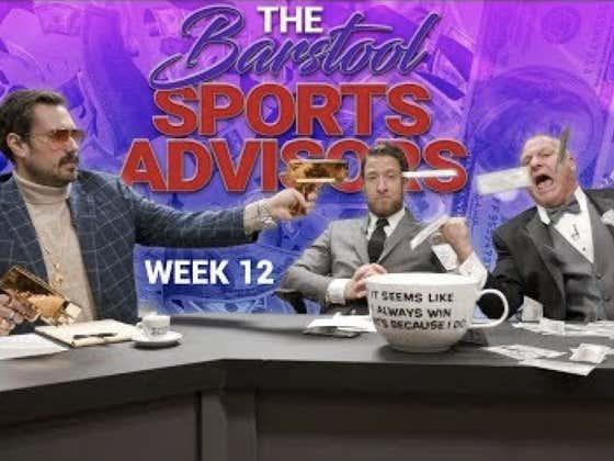 Barstool Sports Advisors Week 12