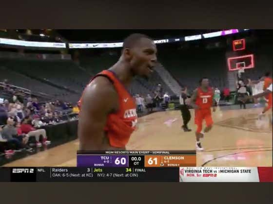 Clemson (+115) misses four straight free throws to close the game out but put the clamps down on D to win it in OT.