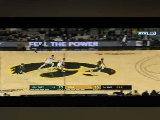 Cal Poly with a last second dunk before the half to cover 1H +12