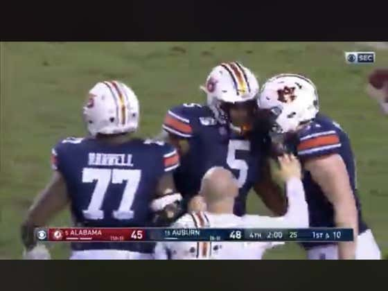 Auburn (+3.5) beats Alabama outright (+155) off this missed FG.  Auburn wins it 48-45 over Bama.