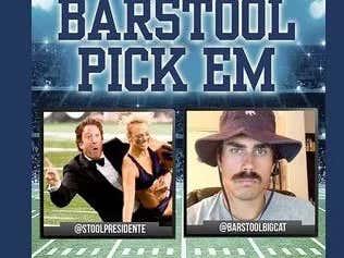 Barstool Pick Em Rivalry Week Cards