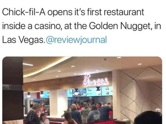 The Late Nate Food Game In Vegas Just Changed Forever With A Chick-fil-A Opening In The Golden Nugget