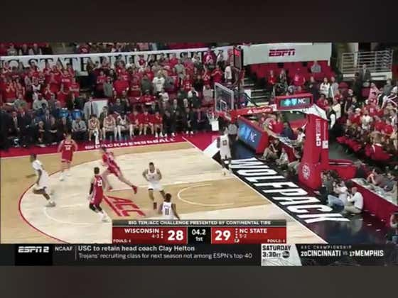 NC State makes a half courter at the buzzer to hit the 1H over (61.5)