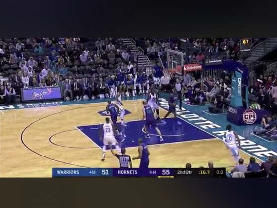 Devonte' Graham makes the final shot of the half to hit the first half over (109.5)
