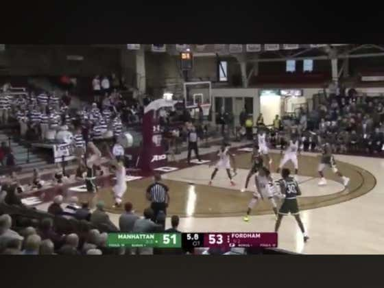 Manhattan down two hits a three to win it in OT and beat Fordham outright (+170)