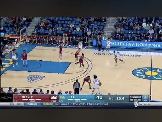 UCLA hits a three in the final seconds of the half to cover 1H -10.5
