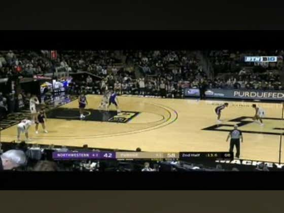 Northwestern hits a layup with one second left in the game to push +14