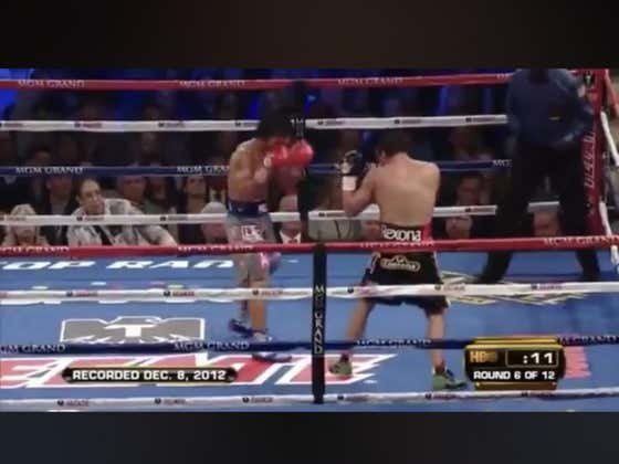 7 years ago today Juan Manuel Marquez knocked out Manny Pacquiao in the 6th round for the WBO light welterweight titles.   Vegas had Manny as a -330 favorite and Marquez +260.