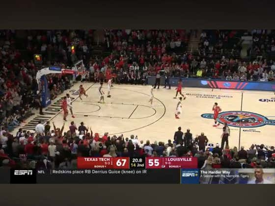 Louisville hits a layup in the final seconds of the game to hit the over 126.5