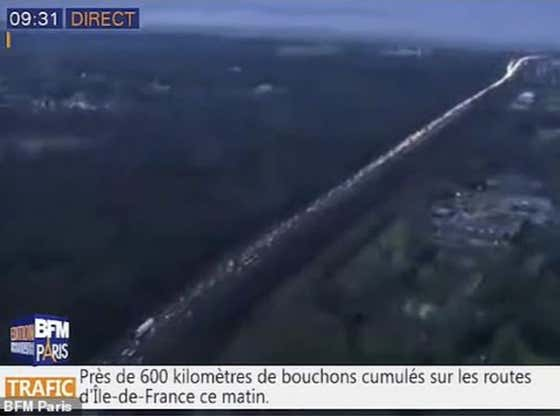 Hell on Earth: Paris Dealing With A 391 Mile Traffic Jam Right Now