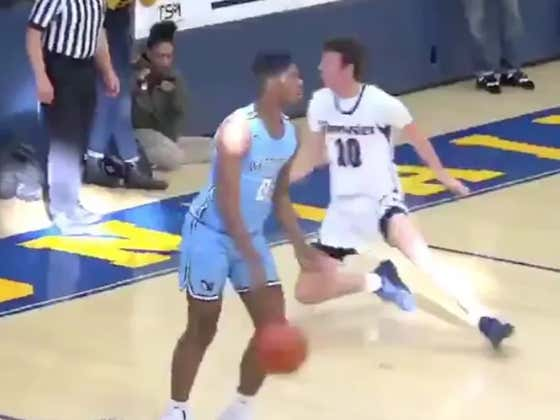 White Kid Has The Whitest Series Of Plays Ever Witnessed On A Basketball Court