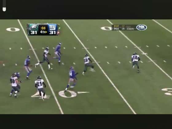 9 years ago today, Desean Jackson did this on the final play of the game to win it for the Eagles and cover -3.
