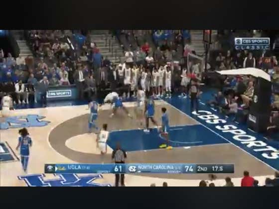 Instead of just letting UNC dribble out the clock, UCLA comes up with a steal and goes down to bang a three to hit the over (137.5)
