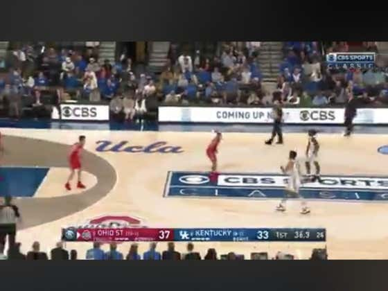 On Kentucky's last possession of the half they hit a huge three to cover 1H +1.5