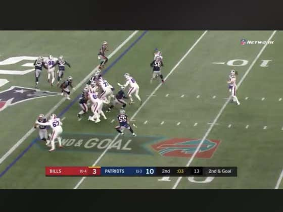Bills score a BIG MAN touchdown with one second left in the half to hit the 1H over (19.5)
