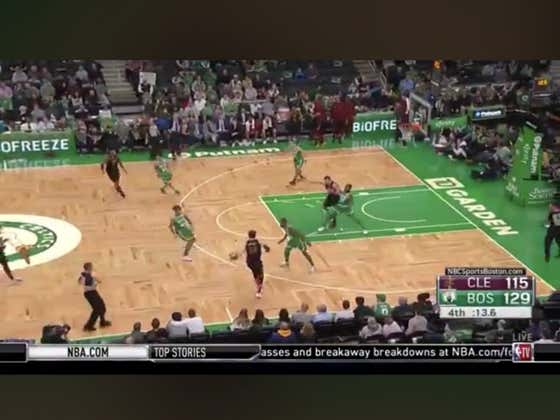 Cavs score on the final shot of the game to cover +14 against the Celtics