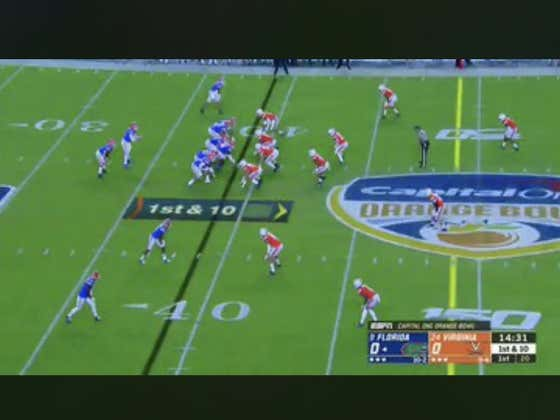 Florida (-16) jumps out to an early 7-0 lead on this house call by Lamical Perine