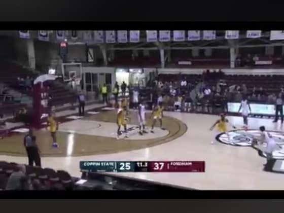 This big put back jam by Fordham sent them to half time with a 39-25 lead and hit the 1H over (63.5)