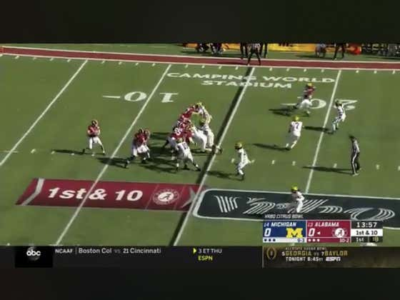 Bama (-7) jump out to a quick 7-0 lead on this 85 yard BOMB to Jerry Jeudy