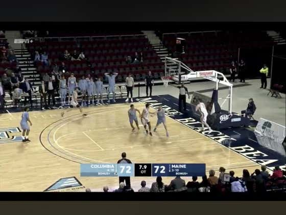 Maine (+240) hits a a DEEP three at the buzzer to beat Columbia 75-72