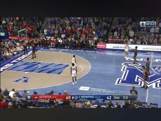 Georgia (+275) beats #9 Memphis 65-62