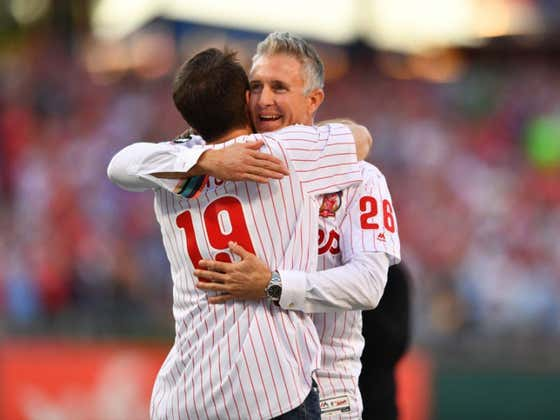Wake Up With Chase Utley Throwing Out The First Pitch To A Die Hard Fan