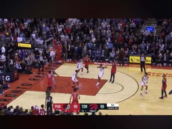 Carmelo Anthony hits a game winner to lift the Blazers (+120) over the Raptors 101-99