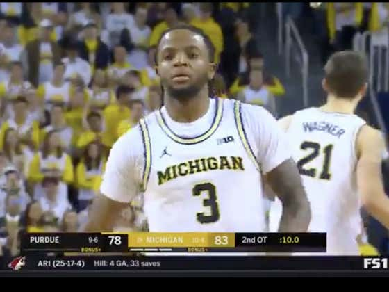 Simpson hits two free throws at the end of double OT to secure the cover for Michigan (-5.5)
