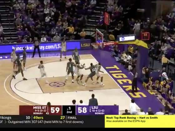 LSU (-7) hits the buzzer beater to defeat Mississippi State 60-59