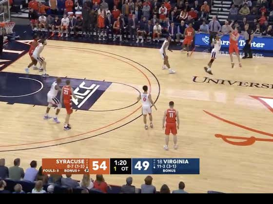 Syracuse (+260) upsets #18 Virginia 63-55 in overtime