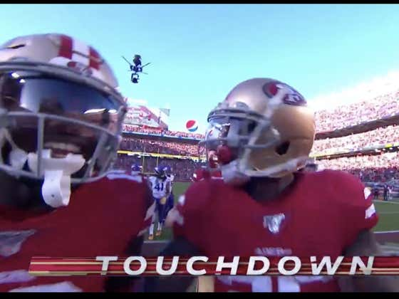 49ers (-7) take a 14-point lead on a Tevin Coleman score