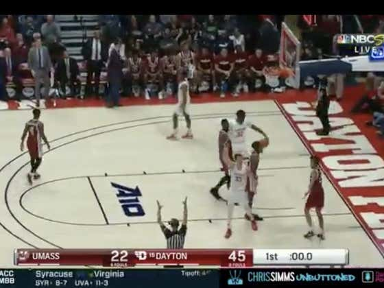 Dayton hits a three as time expires to hit the 1H over (68.5)