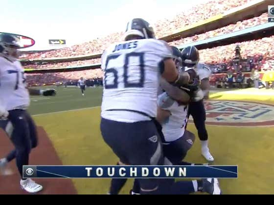 Big man TD for the Titans (+290) to go up 17-7